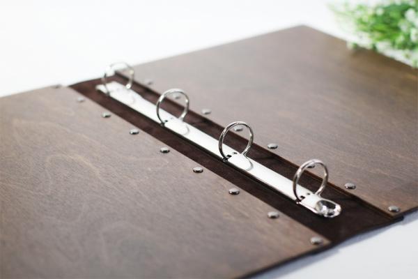Папка под меню с кожаным переплётом