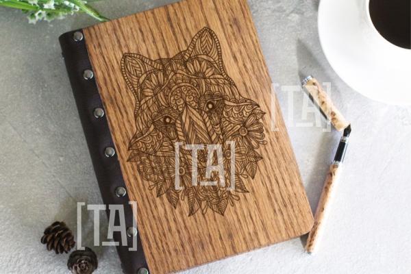 """Деревянный блокнот """"Art fox"""""""