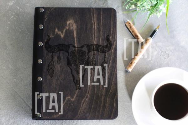 """Деревянный блокнот """"Art goat"""""""