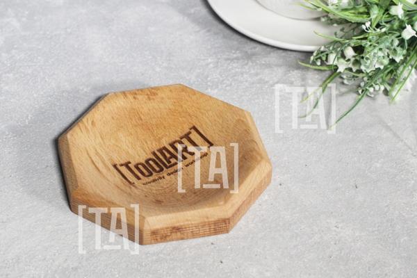"""Монетница деревянная """"Призма"""" Бук"""
