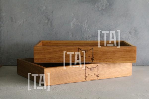Набор деревянных подносов из Дуба
