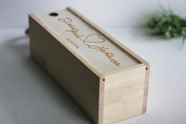 """Коробка для вина """"Связанные сердца"""""""