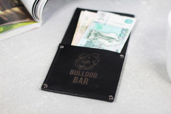 Счётница кожаная с карманом
