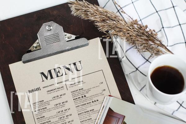 Планшет под меню с Итальянским зажимом